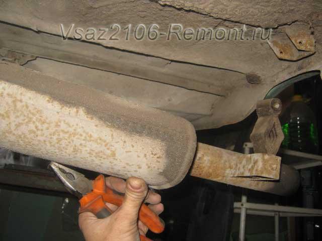 замена глушителя на ВАЗ 2106