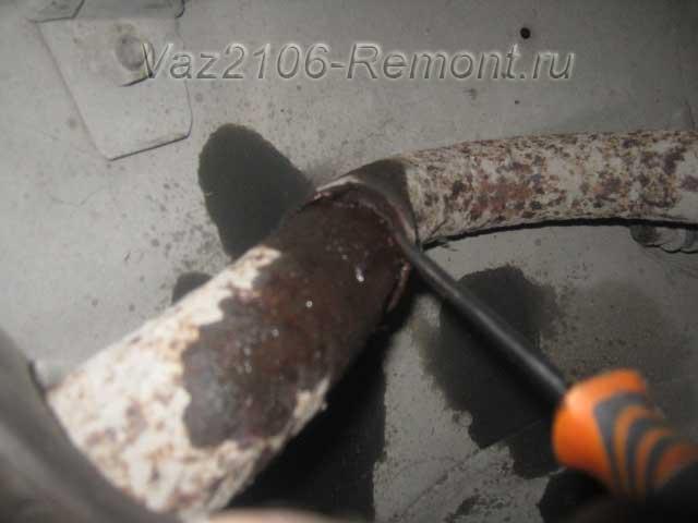 проблемы при снятии глушителя на ВАЗ 2106