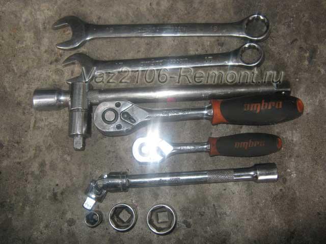 инструмент для снятия генератора с автомобиля ВАЗ 2106