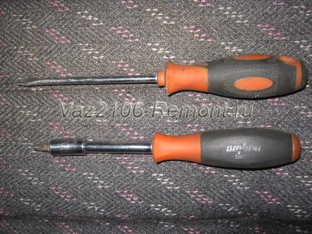 инструмент для снятия обшивки передней двери на ВАЗ 2106