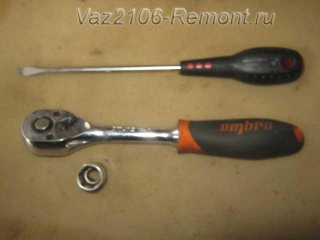 инструмент для замены втягивающего реле стартера на ВАЗ 2106