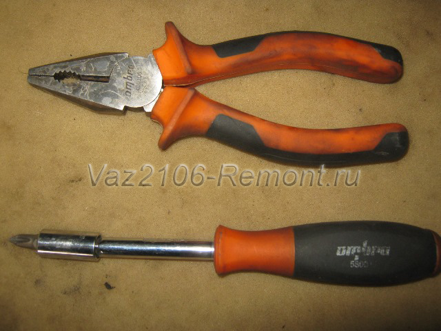инструмент для замены замка двери на ВАЗ 2106