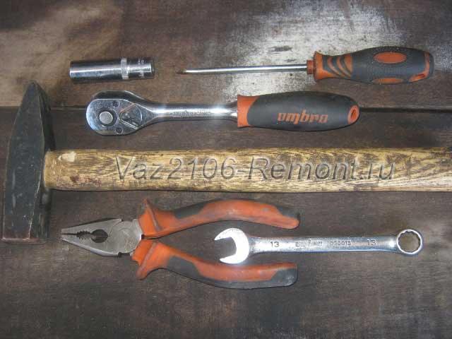 инструмент для замены глушителя на ВАЗ 2106