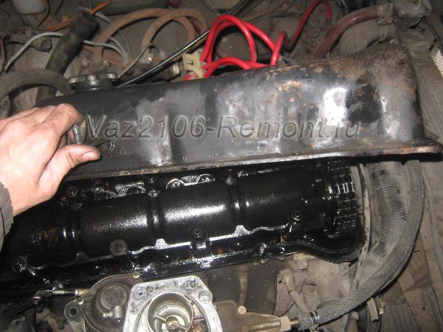 замена прокладки под крышкой клапанов на ВАЗ 2106
