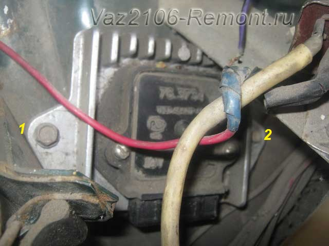 крепление коммутатора на ВАЗ 2106