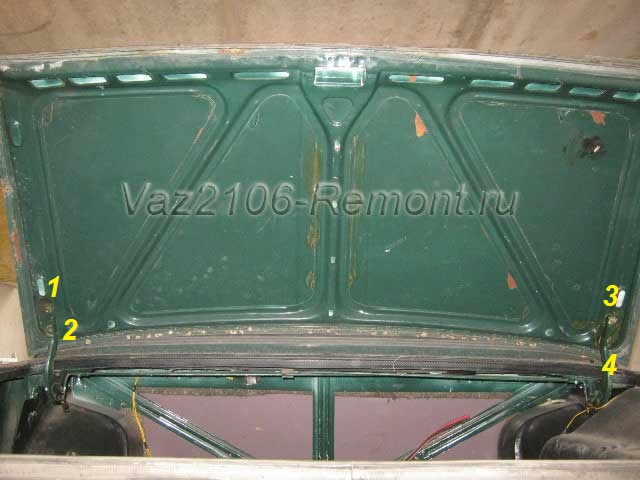 крепление крышки багажника на ВАЗ 2106