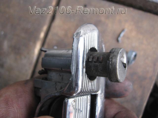 замена личинки замка двери на ВАЗ 2106