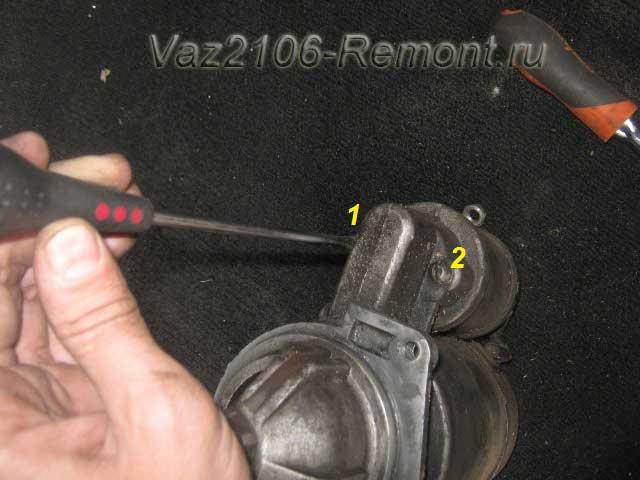 как открутить втягивающее реле на ВАЗ 2106