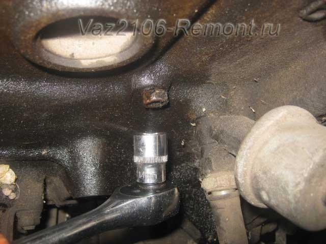 пробка для слива тосола из блока цилиндров ВАЗ 2106