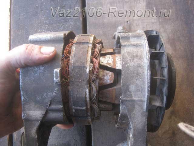 ротор и статор генератора ВАЗ 2106