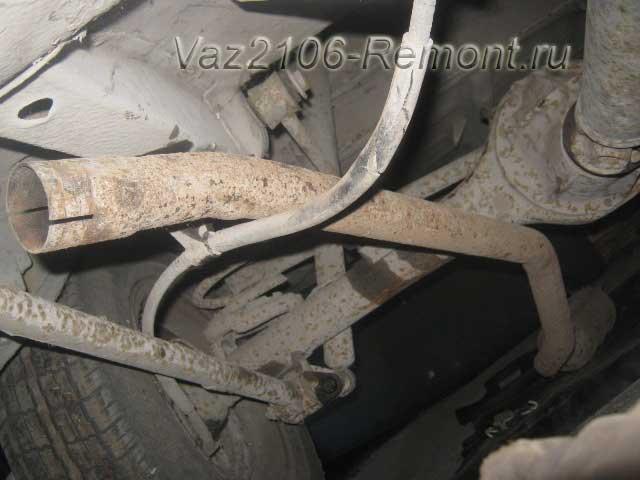 замена резонатора на ВАЗ 2106
