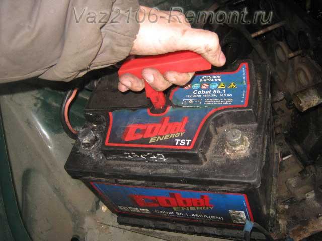 замена аккумулятора на ВАЗ 2106