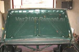 снятие крышки багажника на ВАЗ 2106