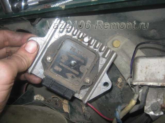 снятие и установка коммутатора на ВАЗ 2106 в электронной системе зажигания