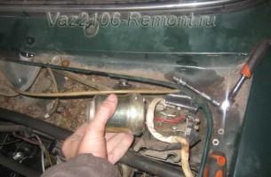 снятие моторчика стеклоочистителя на ВАЗ 2106