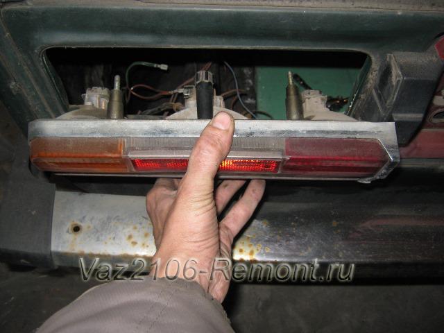 замена задних фонарей на ВАЗ 2106