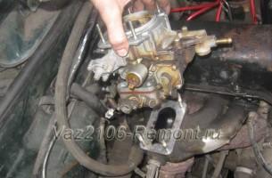 замена карбюратора на ВАЗ 2106