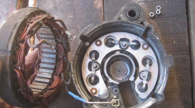 снятие статора на ВАЗ 2106