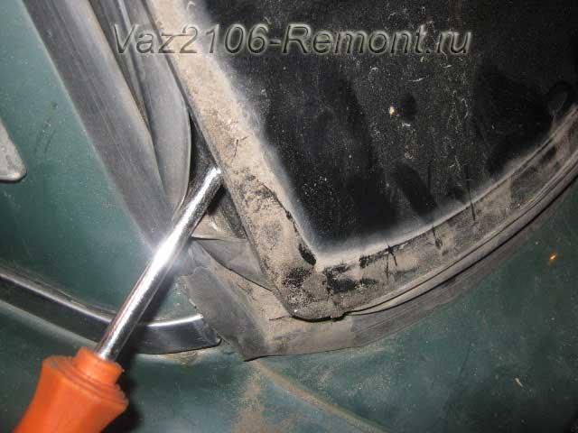 снятие заднего стекла на ВАЗ 2106
