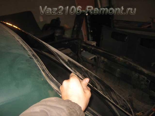 как вынуть заднее и лобовое стекло на ВАЗ 2106
