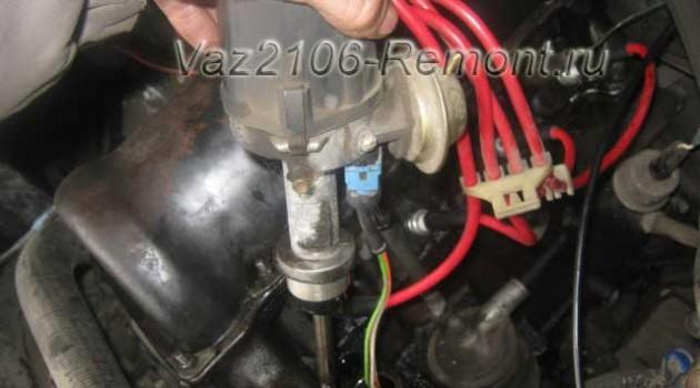 замена трамблера на ВАЗ 2106 с электронным зажиганием