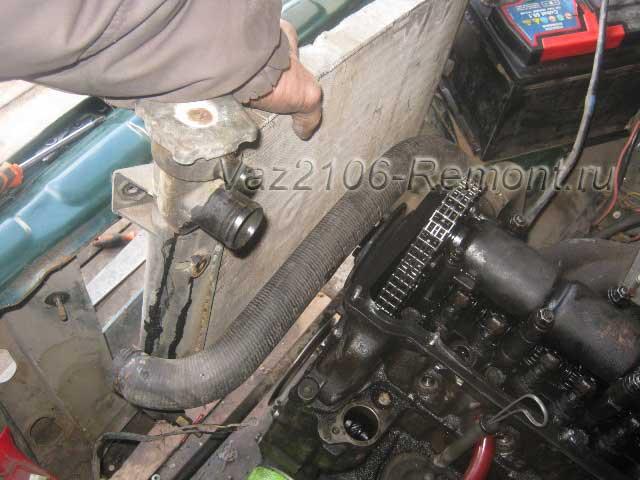 замена радиатора на ВАЗ 2106