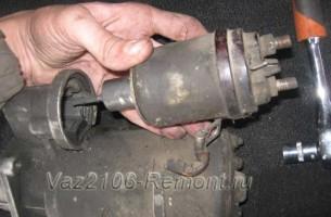 замена втягивающего реле стартера на ВАЗ 2106