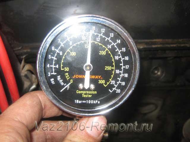 проверка компрессии в цилиндрах двигателя ВАЗ 2101-2106