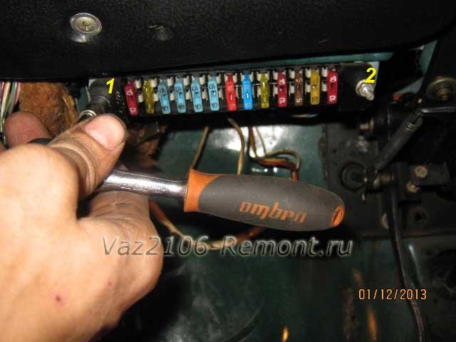 Замена монтажного блока предохранителей на ВАЗ 2106