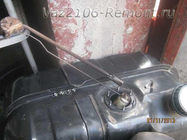 как заменить датчик уровня топлива на ВАЗ 2106