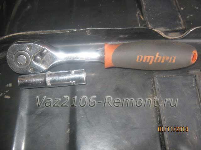 инструмент для снятия датчика уровня топлива на ВАЗ 2106