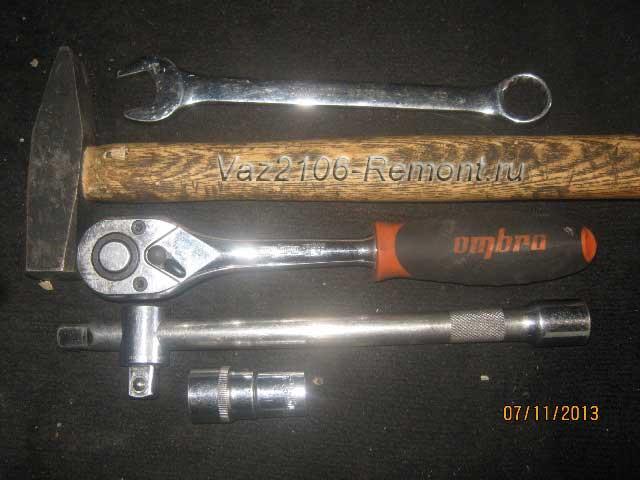 инструмент для замены задних амортизаторов на ВАЗ 2106