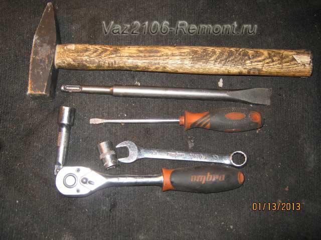 Снятие карданного вала инструмент  ВАЗ 2106