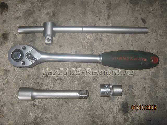 инструмент для снятия кронштейна переднего бампера на ВАЗ 2106