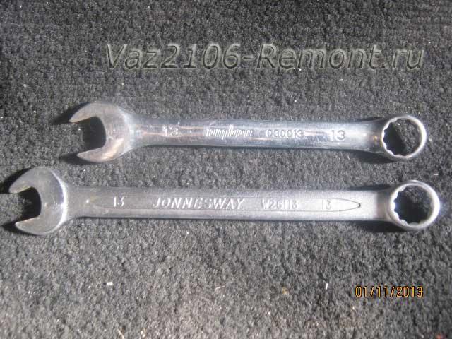ключи для подтяжки троса ручника на ВАЗ 2106