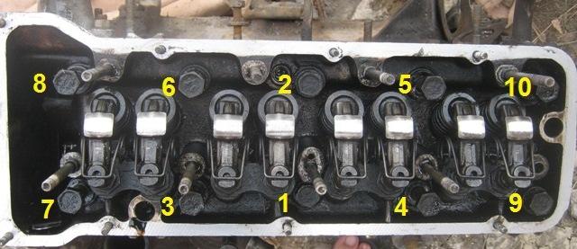 порядок протягивания затяжки болтов ГБЦ на ВАЗ 2106