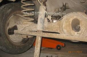 замена задних амортизаторов на ВАЗ 2106