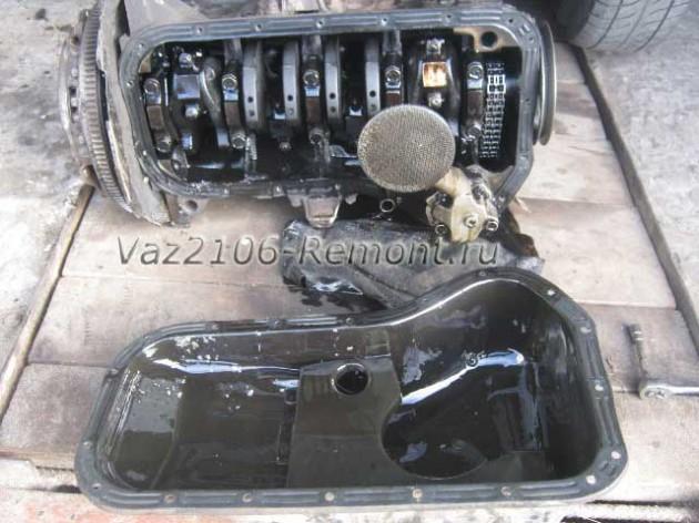 Как снять двигатель с ваз 2106