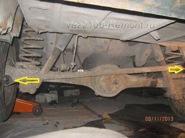 замена поперечной тяги на ВАЗ 2106