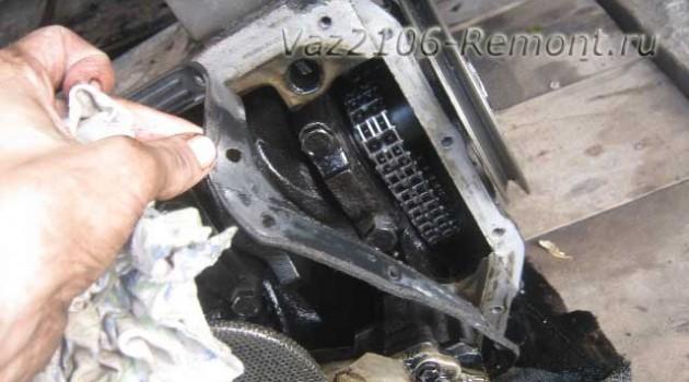 замена прокладки поддона на ВАЗ 2106