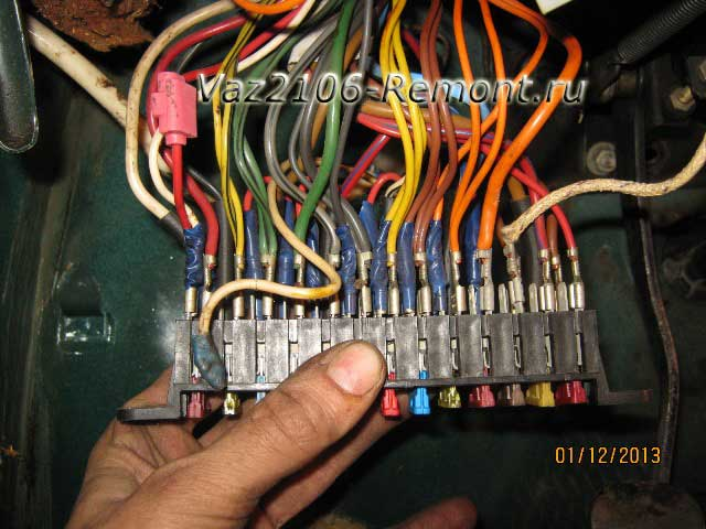 провода монтажного блока ВАЗ 2106