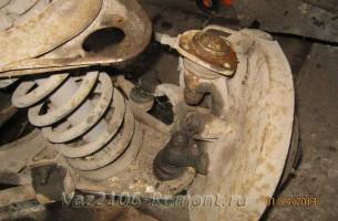 замена шаровой опоры на ВАЗ 2106