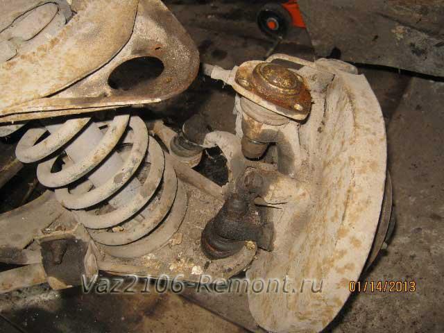 Замена шаровых опор на ВАЗ 2106