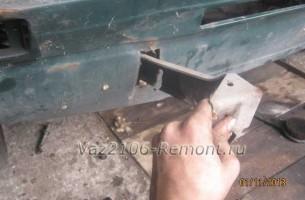 снятие кронштейна переднего бампера на ВАЗ 2106