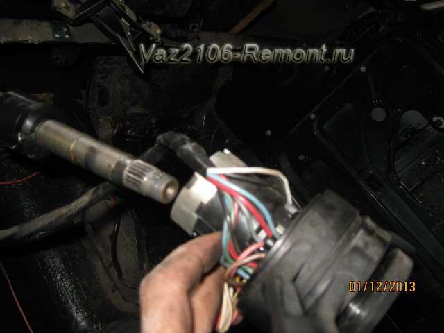 снятие подрулевого переключателя с ВАЗ 2106