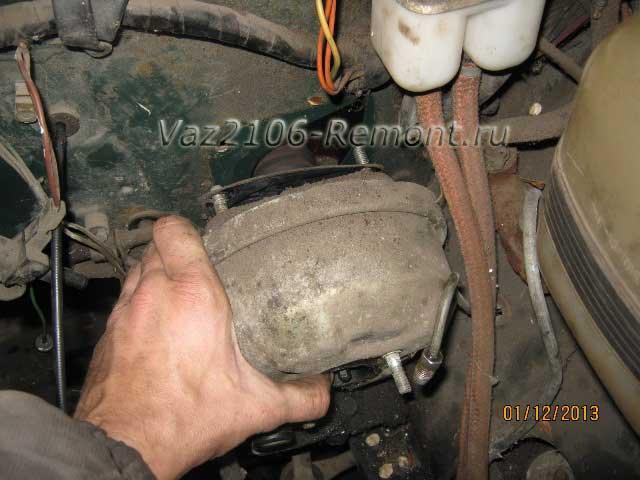 замена вакуумного усилителя тормозов на ВАЗ 2106