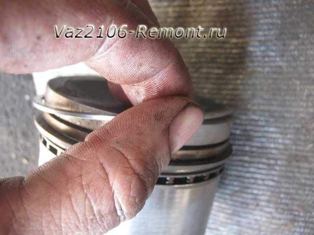 как снять поршневые кольца на ВАЗ 2106