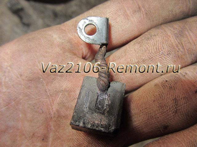 замена щеток стартера на ВАЗ 2106