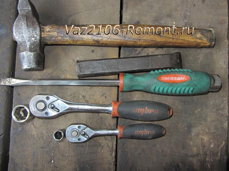 замена подшипников редуктора на ВАЗ 2106 инструменты