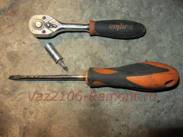 инструмент для замены задних брызговиков на ВАЗ 2106